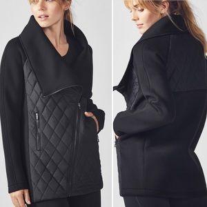 Fabletics Kinsley Jacket Black Quilted